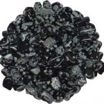 Tumbled Snowflake Obsidian